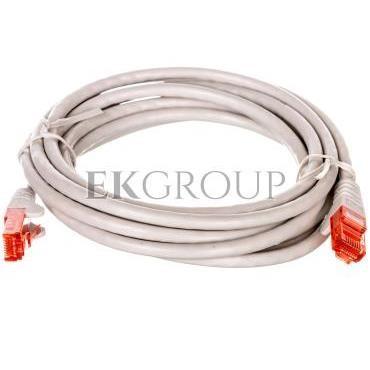 Kabel krosowy patchcord U/UTP kat.6 CCA szary 2m 68454-150457