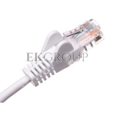 Kabel krosowy patchcord U/UTP kat.5e CCA biały 1m 68501-150459