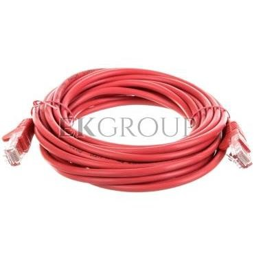 Kabel krosowy patchcord U/UTP kat.5e CCA czerwony 5m 68379-150472