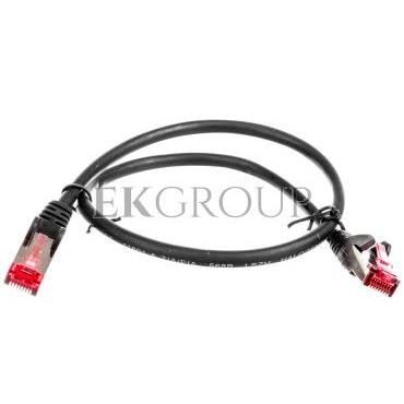 Kabel krosowy patchcord S/FTP (PiMF) kat.6 LSZH czarny 0,5m 68687-150473