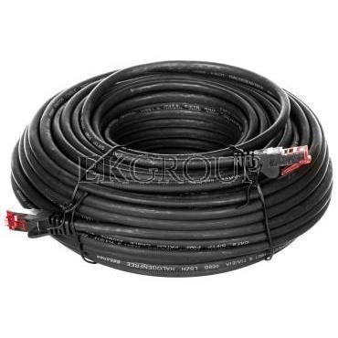 Kabel krosowy patchcord S/FTP (PiMF) kat.6 LSZH czarny 2m 68696-150475