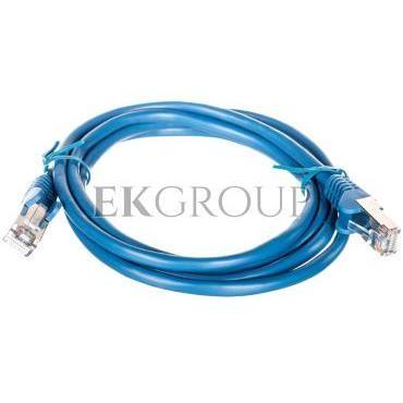 Kabel krosowy patchcord F/UTP kat.5e CCA niebieski 1,5m 95532-150487