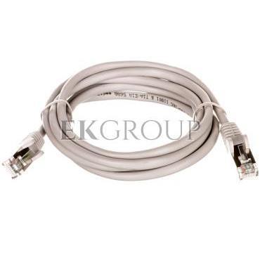 Kabel krosowy patchcord F/UTP kat.5e CCA szary 1,5m 95535-150488
