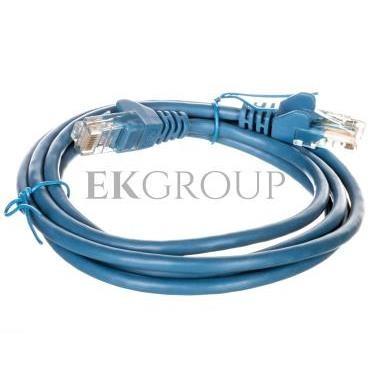 Kabel krosowy patchcord U/UTP kat.5e CCA niebieski 1,5m 95554-150490