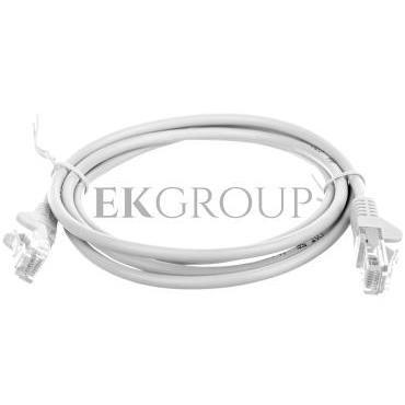 Kabel krosowy patchcord U/UTP kat.5e CCA szary 1,5m 95557-150492