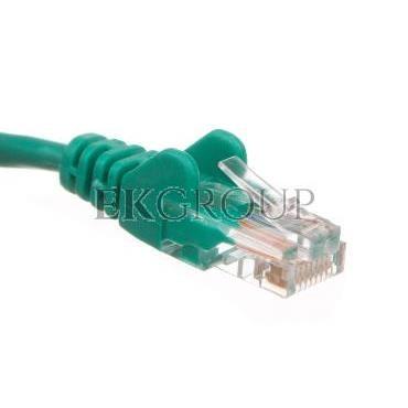 Kabel krosowy patchcord U/UTP kat.5e CCA zielony 2m 68358-150499