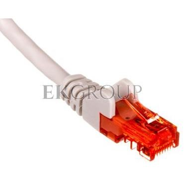 Kabel krosowy patchcord U/UTP kat.6 CCA szary 3m 68409-150502