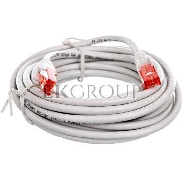 Kabel krosowy patchcord U/UTP kat.6 CCA szary 5m 68419-150503