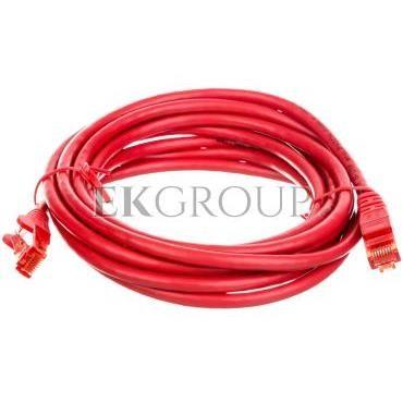 Kabel krosowy patchcord U/UTP kat.6 CCA czerwony 3m 68411-150512