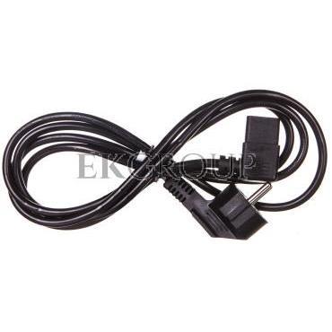 Kabel zasilający kątowy Schuko (type F, CEE 7/7) > C13 2m 50080-149526