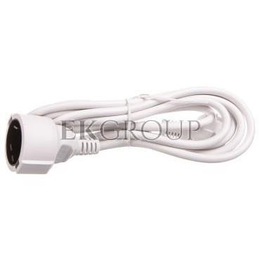 Kabel przedłużajacy (przedłużacz) 3m biały 1x230V H05VV-F3G1,5 93087-149272