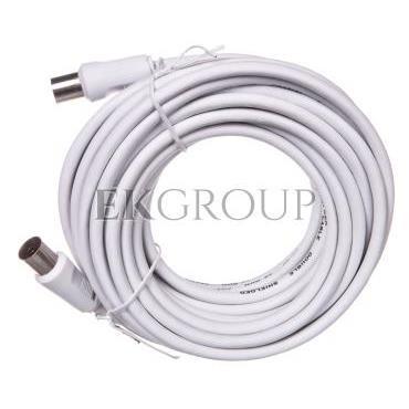 Przewód antenowy IEC 7,5m biały 11513-148415