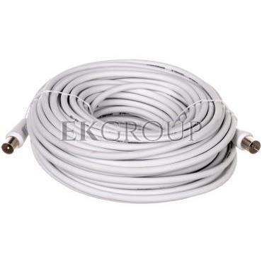 Przewód antenowy IEC 20m biały 50125-148420