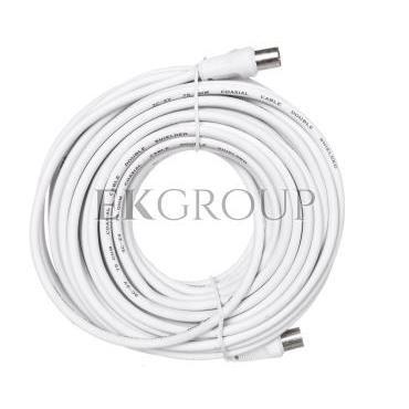Przewód antenowy IEC 15m biały 11515-148422