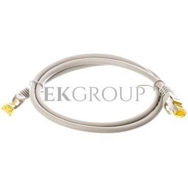 Kabel krosowy patchcord S/FTP (PiMF) kat.7 LSZH szary 1m 91585-150539