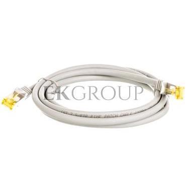 Kabel krosowy patchcord S/FTP (PiMF) kat.7 LSZH szary 2m 91603-150540