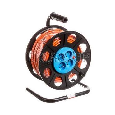 Przedłużacz bębnowy 40m H05VV-F 3x1,5 4xGS /  termik/ pomarańczowy PS-B2 T-149283