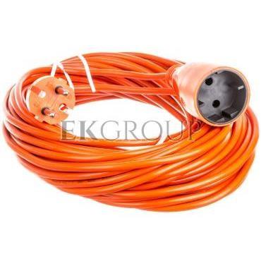 Przedłużacz ogrodowy 1-gniazdo b/u 10A 20m /OMY 2x1/ pomarańczowy PS-160-149279