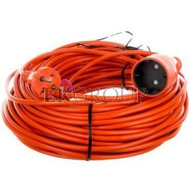 Przedłużacz ogrodowy 1-gniazdo b/u 10A 40m /OMY 2x1/ pomarańczowy PS-160-149280