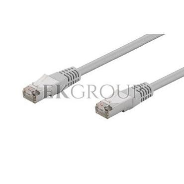 Kabel krosowy patchcord F/UTP kat.5e CCA szary 2m 73078-150558