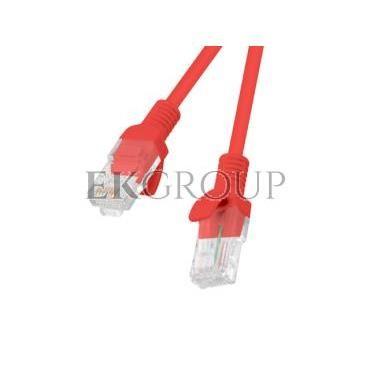 Kabel krosowy patchcord U/UTP kat.6 0,25m czerwony-150582