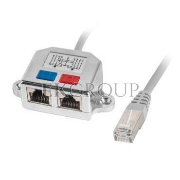 Adapter - rozdzielacz LAN RJ45 - 2xRJ45 FTP /2 urządzenia na 1 kablu/ AD-0026-S-150594