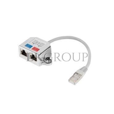 Adapter - rozdzielacz LAN RJ45 - 2xRJ45 FTP /2 urządzenia na 1 kablu/ AD-0026-S-150595