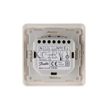 Termostat DEVIreg 530 230V 15A -10-50°C IP31 biały 140F1030-147547