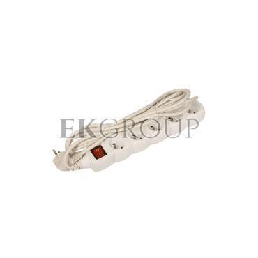 Przedłużacz z wyłącznikiem 5-gniazd z/u 5m /H05VV-F 3G1/ biały P1515-148690