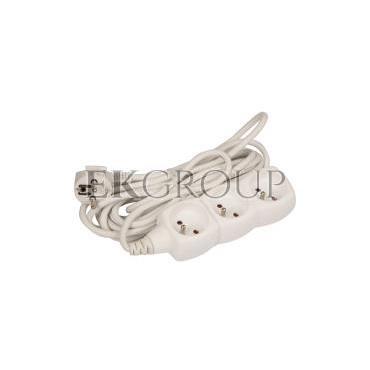 Przedłużacz 3-gniazda z/u 5m /H05VV-F 3G1/ biały P0315-148695