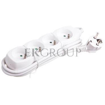 Przedłużacz 4-gniazda z/u 1,5m /H05VV-F 3G1/ biały P0411-148737