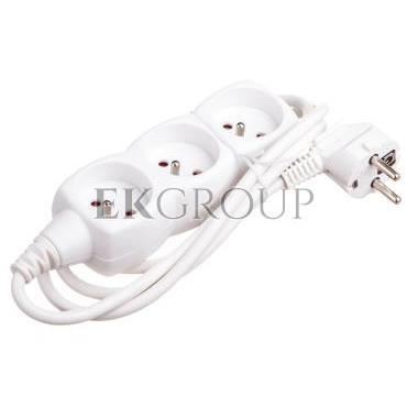 Przedłużacz 3-gniazda z/u 1,5m /H05VV-F 3G1/ biały P0311-148736