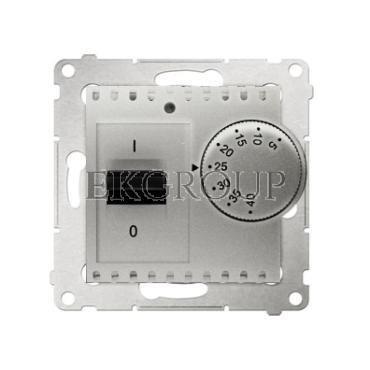 Simon 54 Regulator temperatury z czujnikiem zewn.5-40°C IP20 srebrny mat DRT10Z.02/43-147517