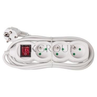 Przedłużacz z wyłącznikiem 3-gniazda z/u 3m /H05VV-F 3G1/ biały P1313-148748