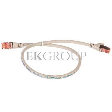 Kabel krosowy (Patch Cord) S/FTP kat.6 szary 0,5m DK-1644-005-150177