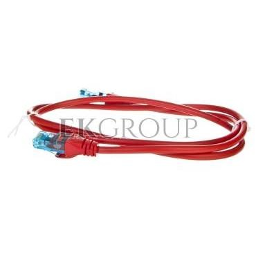 Kabel krosowy (Patch Cord) U/UTP kat.5e czerwony 1m DK-1512-010/R-150184