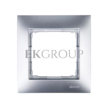 Simon 54 Premium Ramka pojedyncza srebrny mat DR1/43-154376