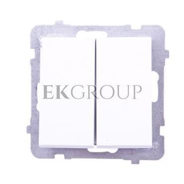 SONATA Przycisk podwójny zwierny biały ŁP-17R/m/00-165665