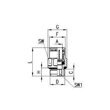 Szybkozłącze wtykowe proste 6512 Camozzi