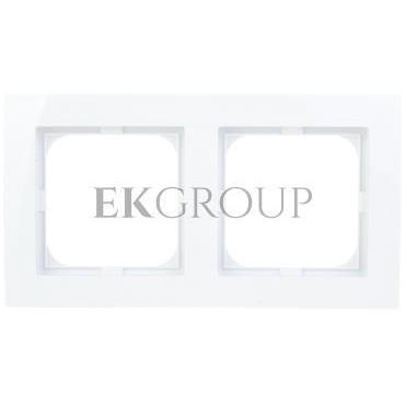 AS Ramka podwójna biała R-2G/00-156301