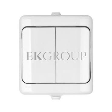 BRYZA Łącznik hermetyczny świecznikowy IP54 biały 180405-160500
