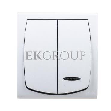 MADERA Łącznik hermetyczny świecznikowy z podświetleniem IP44 biały ŁNH-2NS/00-160343