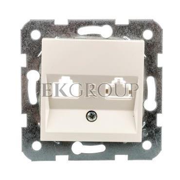 Płytka czołowa z ramką szkieletową do gniazd teleinformatycznych mocowanie typ keystone jack biała 90967315-153493