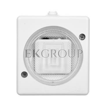 TROL Łącznik hermetyczny pojedynczy IP44 biały 100401-160419