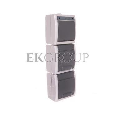 AQUANT Łącznik 1-b/schod   GNT 2x2P Z pionowe szare IP55 1262-10-166170