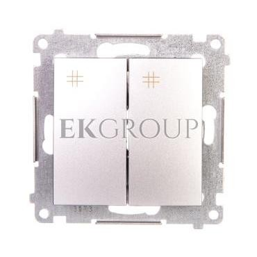 Simon 54 Łącznik krzyżowy podwójny 10A 230V IP20 srebrny mat DW7/2.01/43-161250