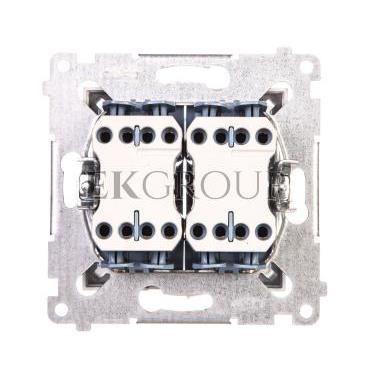 Simon 54 Łącznik krzyżowy podwójny 10A 230V IP20 srebrny mat DW7/2.01/43-161251