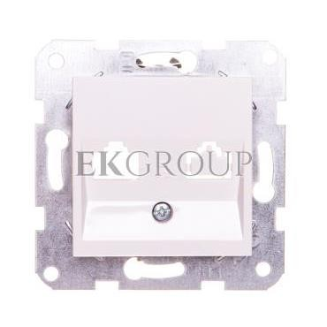 KARRE Płytka czołowa z ramką szkieletową do gniazd teleinformatycznych mocowanie typu keyston jack biała 90967115-153092