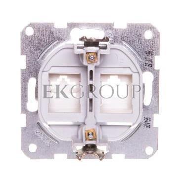 KARRE Płytka czołowa z ramką szkieletową do gniazd teleinformatycznych mocowanie typu keyston jack biała 90967115-153093