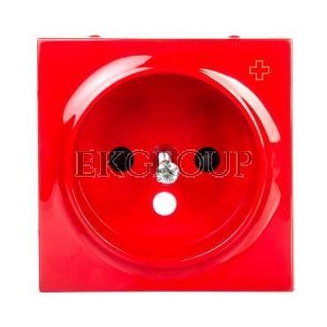 Simon 54 Pokrywa gniazda pojedynczego z przesłonami antybakteryjna czerwona DGZ1ZP/AB22-153181